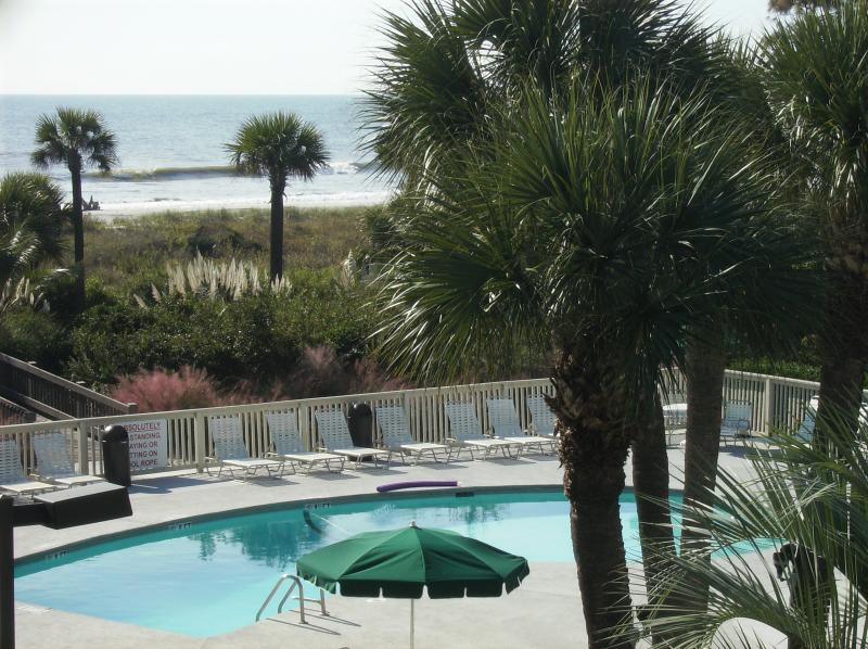 Spectacular View fro the Balcony - Breakers - Spectacular View of the Ocean and Pool - Hilton Head - rentals