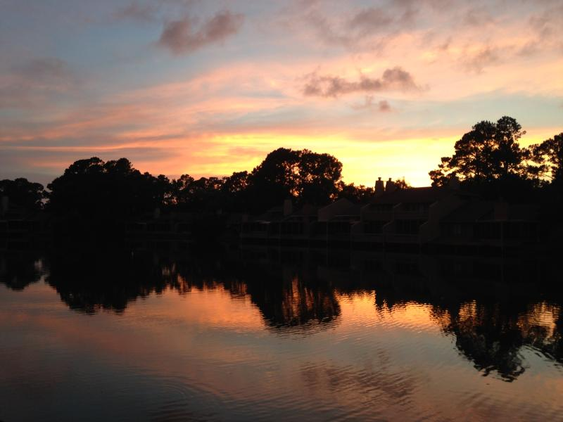 Sunset from the porch - 3 BD/3 BA Sawgrass condo - Walk to the beach! - Ponte Vedra Beach - rentals