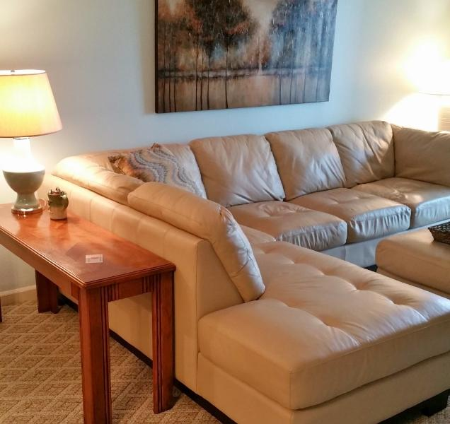Large Leather Sectional in Living Room - Classy condo on the Bluff Amenities Wifi Pets - Branson - rentals