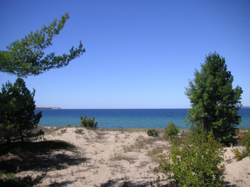 View of Lake Michigan from the property. - Private Lake Michigan Setting - Glen Arbor - rentals