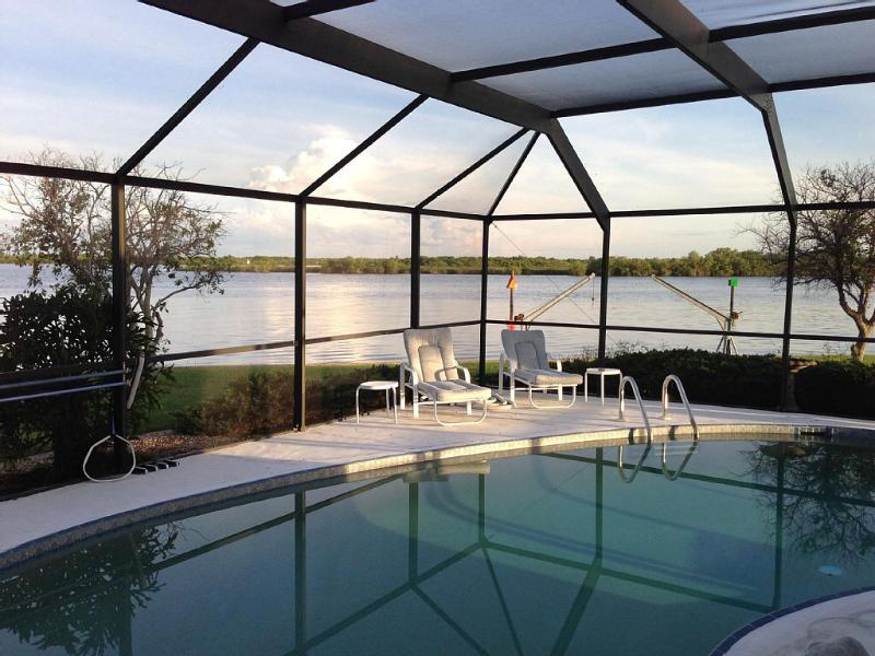 No words to convey the beauty and tranquility of this amazing view! - Waterfront pool home -280' of Peace River paradise - Punta Gorda - rentals