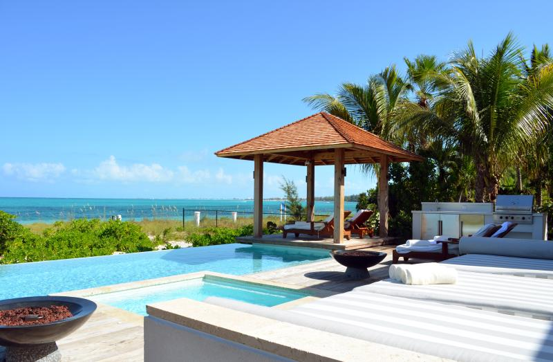 Private pool, jacuzzi, grill and cabana off the deck, all overlooking the beach - Beachfront Luxury Villas on Grace Bay Beach - Providenciales - rentals