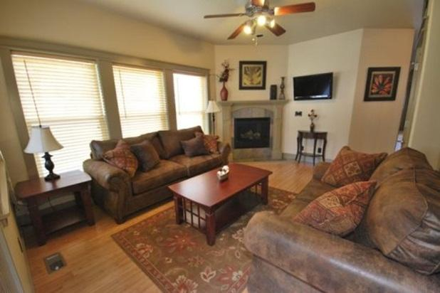 Comfy living room with big screen television - Quiet McCall Retreat - Hot Tub, Game Room - McCall - rentals