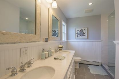 Brand new bathrooms with slate floors, marble top vanities and large shower - **Montauk - Ditch Plains, 2 Blocks from beach - Montauk - rentals