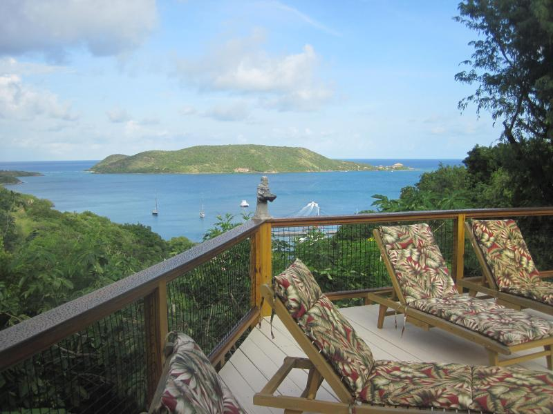 View from Pool of Mosquito Island - Tamarind - Virgin Gorda Overlooking North Sound - Leverick Bay - rentals