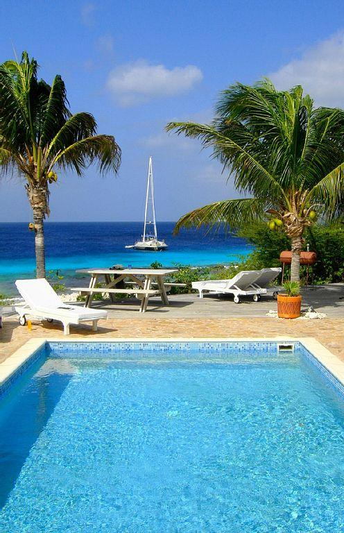 Our view from the veranda - Oceanfront Residence Villa Kiki,direct at sea - Speightstown - rentals