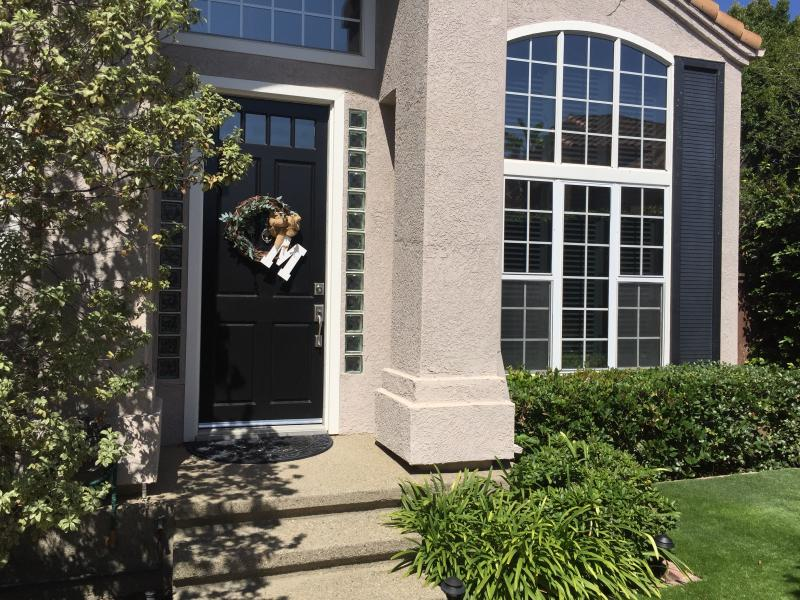 """Front door and living room windows - NEW. BE #1 and enjoy """"Your Dream Vacation Home"""" - Costa Mesa - rentals"""