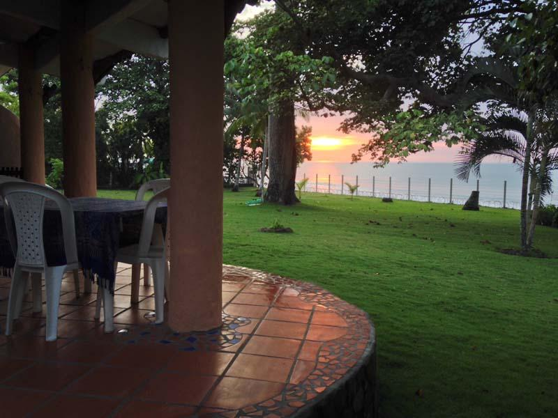 Casa Palmar-- Sunrise from your breakfast table - Artistically Designed Beachfront Casa for Rent,  E - El Palmar - rentals