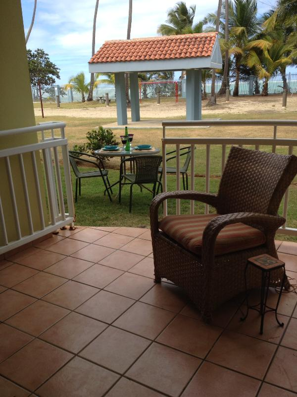 View from the back terrace and steps to the beach. - BEAUTIFUL LOIZA-BY-THE SEA VILLA - Loiza - rentals