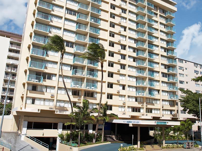 Hotel Front View - Aqua Aloha Surf Waikiki Beach, Hawaii - Honolulu - rentals
