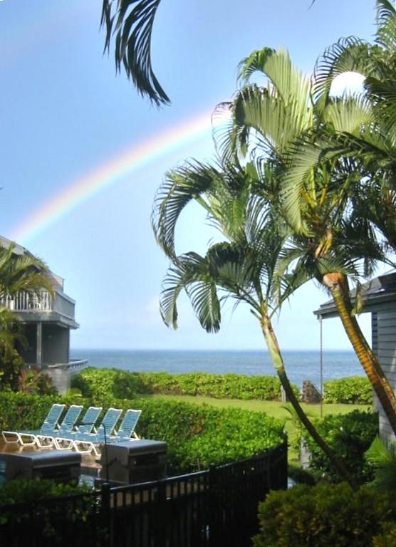 Photo from the condo. There has to be rain to have rainbows. - 3BR/3BA - Sleeps up to 10 ! - Lahaina - rentals