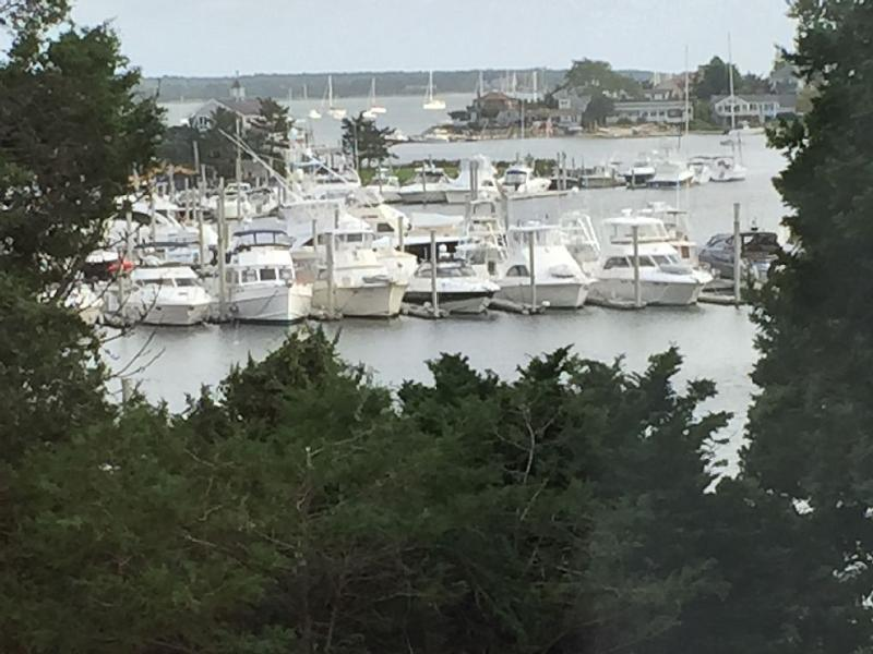 Water view from huge, 17' x 24' master bedroom is also seen from upstairs TV room between masters. - Waterfront Compound: 5 Br A/C Cape, Cottage w/Dock - Hyannis - rentals