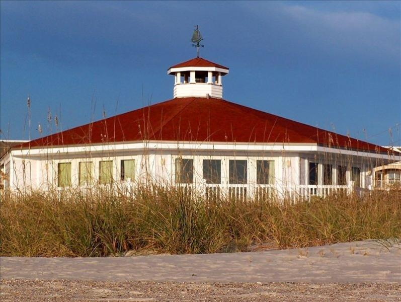 Ocean Glory seen from the beach - Oceanfront Cottage with 180-Degree View - Fernandina Beach - rentals