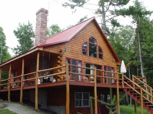 camp - moosehead Lake shore log home w/ hot tub - Greenville - rentals
