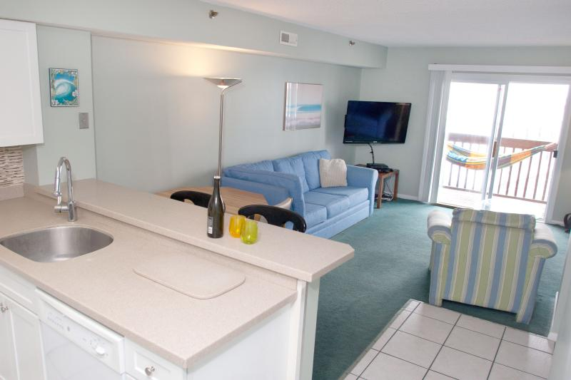 Living Area - Seniors Welcome! Beautiful Views! Walk to Beach and Boardwalk!! 4 Balconies. - Ocean City - rentals