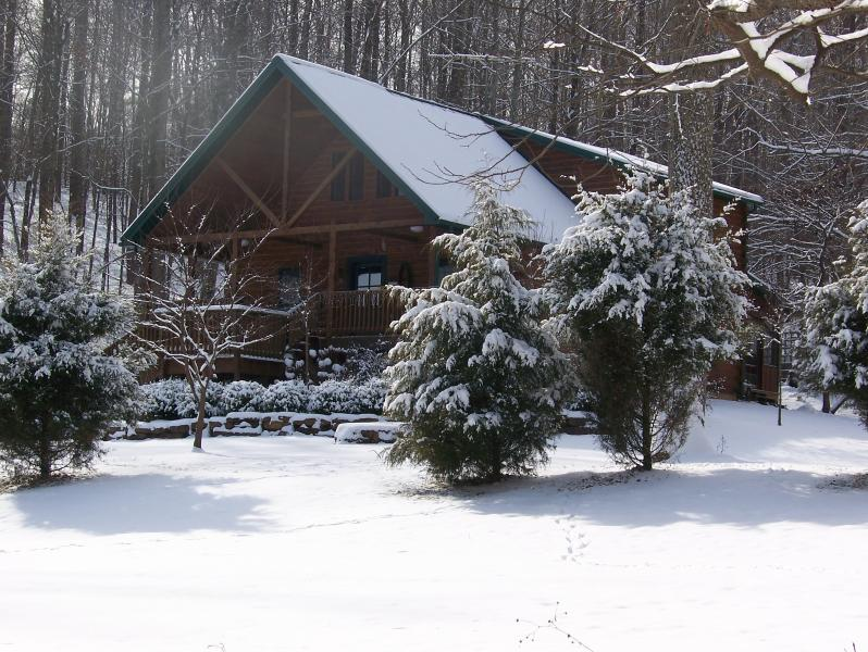 Wise Old Owl Cabin in Winter Snow - Wise Old Owl Cabin French Lick Paoli Peaks Ski - Taswell - rentals