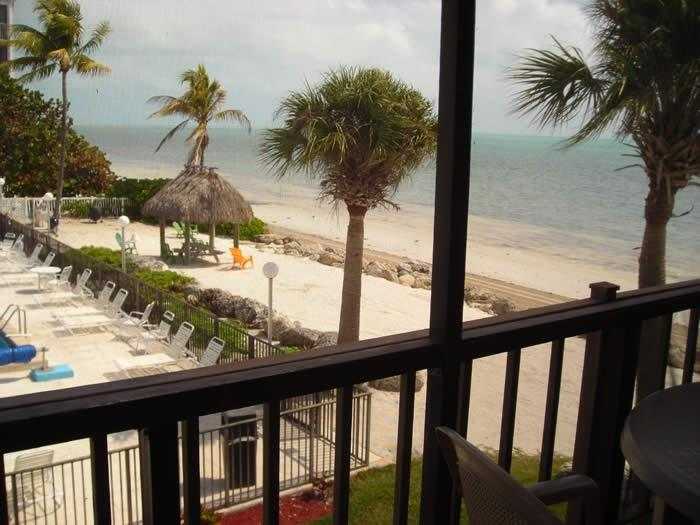 Balcony overlooking pool and ocean - Ocean Front Condo on Private Beach ! - Marathon - rentals
