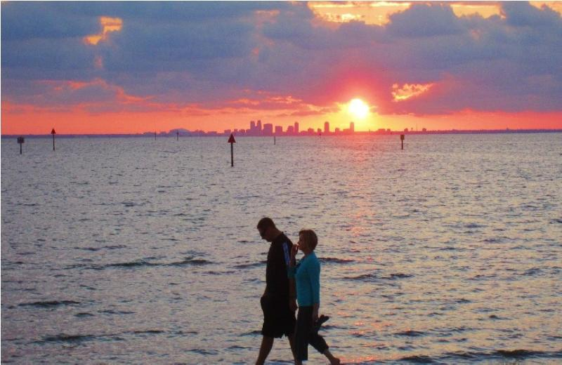 sunset on Private Beach,Tampa Bay