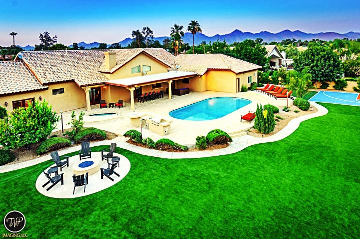 Stunning ariel shot of backyard! - #1 RATED *5 STAR LUXURY RESORT STYLE PROPERTY - Scottsdale - rentals