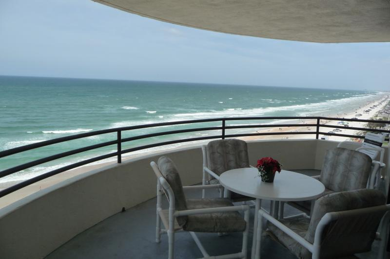 Ocean view from our private Balcony.  - CONDO ON DAYTONA BEACH - NON-SMOKING, WI-FI, HD TV - Daytona Beach Shores - rentals