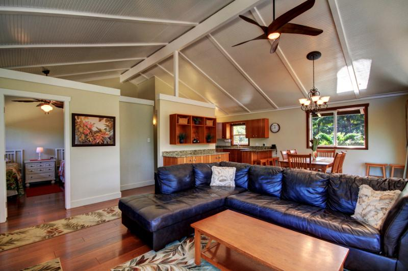 Living room view. - Maui Beach House, Pool, Cottage, Remodeled, AC - Kihei - rentals