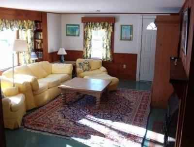 Spacious sunny living room has game/puzzle table, cable TV with dvd/vhs player - Looking for Fun in the Sun and a Place to Relax??? - Dennis Port - rentals