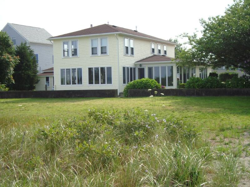 Back of the house as seen from the beach. - Ocean Front Beach house with Spectacular Views - Newport - rentals