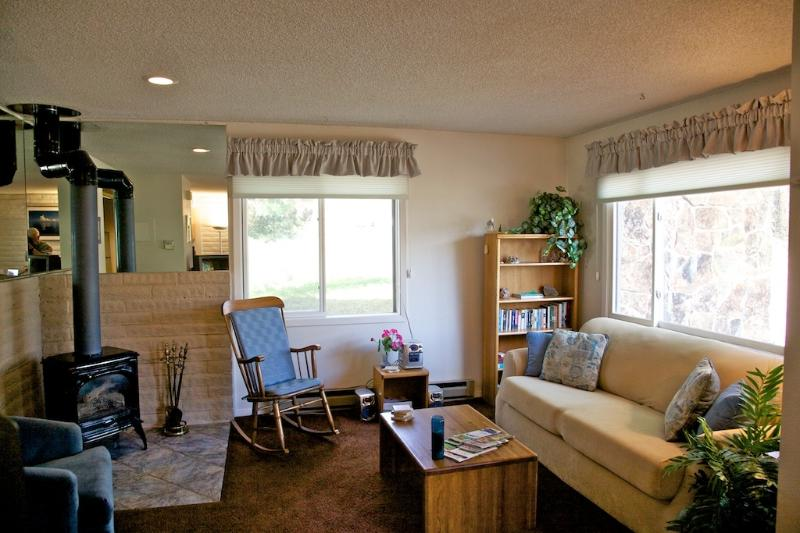 Living Room - NEW HD Flat Screen TV is now in the unit but is not shown in photo - VERY AFFORDABLE- Large 2 Bd.Townhouse at Ski Area - Steamboat Springs - rentals