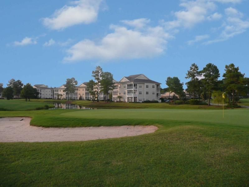 15th green toward condo - Fairway Villa on Magnolia Greens Plantation 5 Minutes From Downtown Wilmington - Leland - rentals