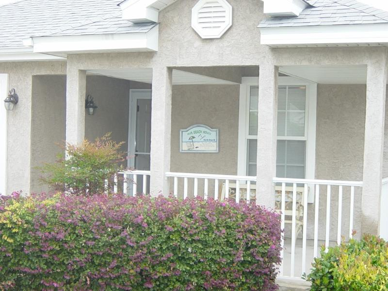 Home front with relaxing porch - HOME AWAY From HOME with the BEACH seconds away! - Panama City Beach - rentals