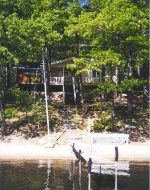 View from the lake - Gaylord Lakefront with 8 Person Hot Tub - Gaylord - rentals