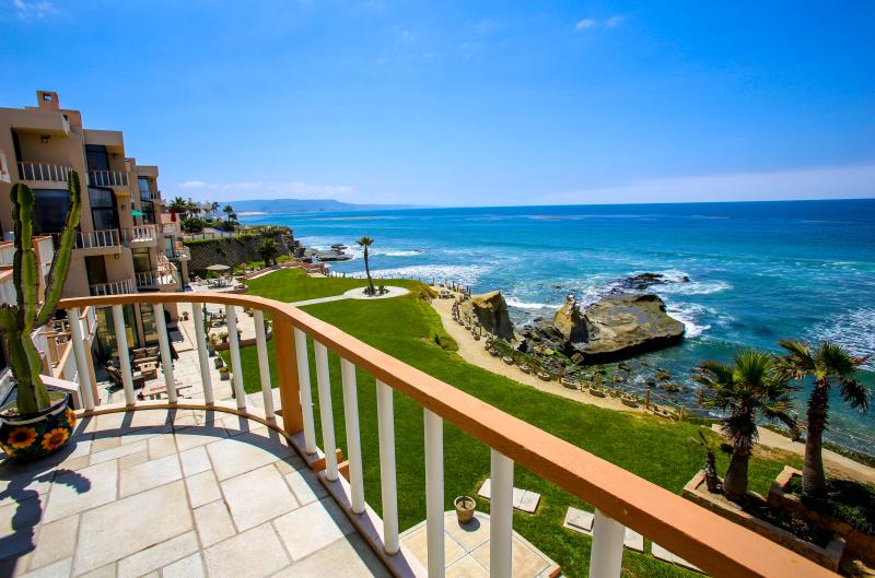 View from the Main balcony-Unit A - Two Mexican Charm Oceanfront Condos, Rosarito - Puerto Nuevo - rentals