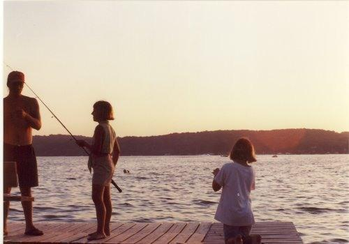 fishing on the pier - Lake Geneva Wisconsin Boutique Inn and Cottage - Lake Geneva - rentals
