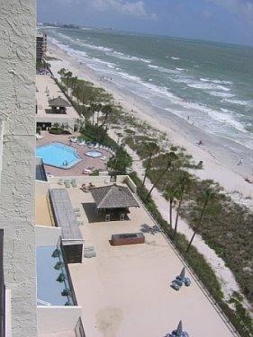 Condo Balcony View - Enjoy a Florida Vacation in a beachfront condo! - Madeira Beach - rentals