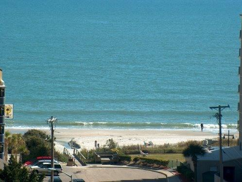 Ocean View from Condo - Myrtle Beach Ocean View Condo with a Balcony, Sauna, and Hot Tub - Myrtle Beach - rentals