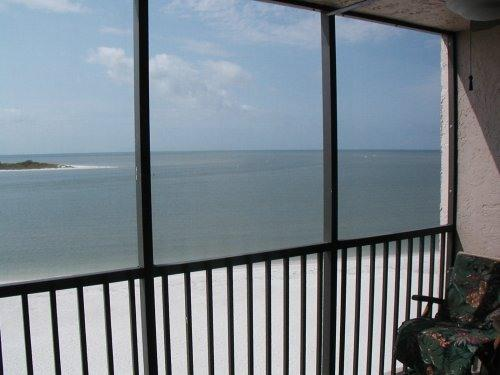 View from screened lanai - Tropical Beach Getaway**New**Beach Front** - Fort Myers Beach - rentals