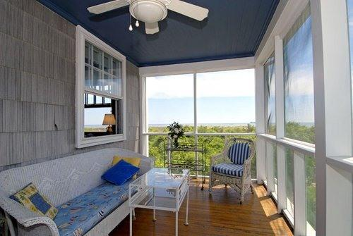 Screened Porch looking at ocean and seeing waves - OCEANFRONT!   North End With Fabulous Ocean View - Virginia Beach - rentals