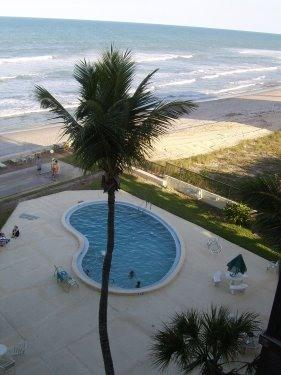 view from all rooms and balcony - Direct Ocean-Satellite Beach-Sandpiper Tower Condo - Satellite Beach - rentals