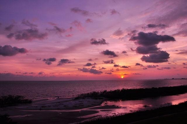 Sunset from Balcony - NEW*Island Sunsets I & I I- Gulf Fronts- WiFi&ROKU - Fort Myers Beach - rentals