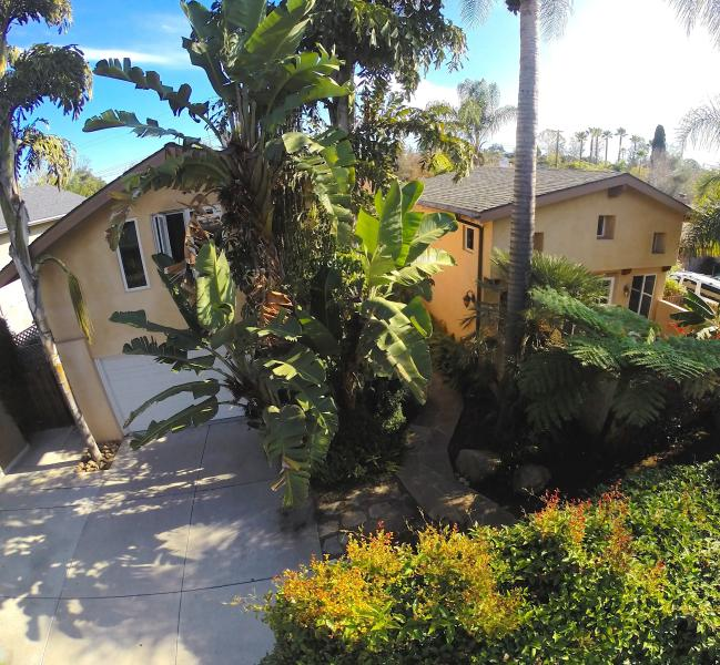 front, aerial view - Gorgeous Mediterranean-style Family Home - Santa Barbara - rentals