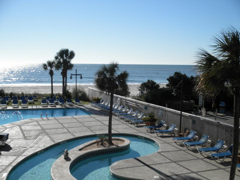 view from the balconies - 2BR/2BR Condo ON THE BEACH - Great Rates - Myrtle Beach - rentals