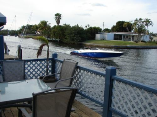 Deck & canal view - Private Vacation Cottage in Dania Beach - Dania Beach - rentals