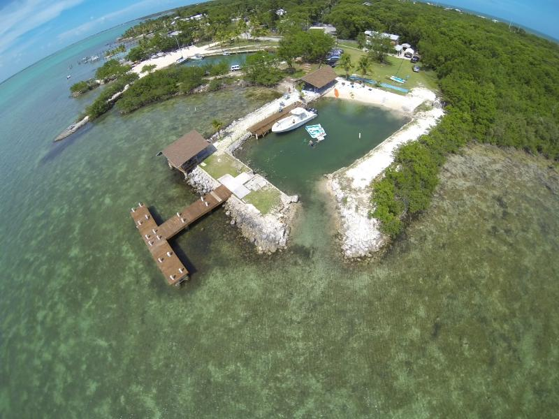 Aerial picture of property. - BAYFRONT KEYLARGO PRIVATE HOME!!! - Key Largo - rentals
