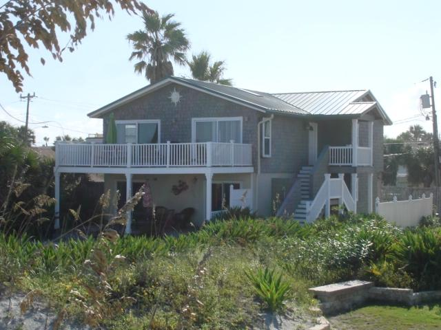 Casa del Sol (view from beach) - Oceanfront  Home Casa del Sol - Live the life! - Saint Augustine - rentals
