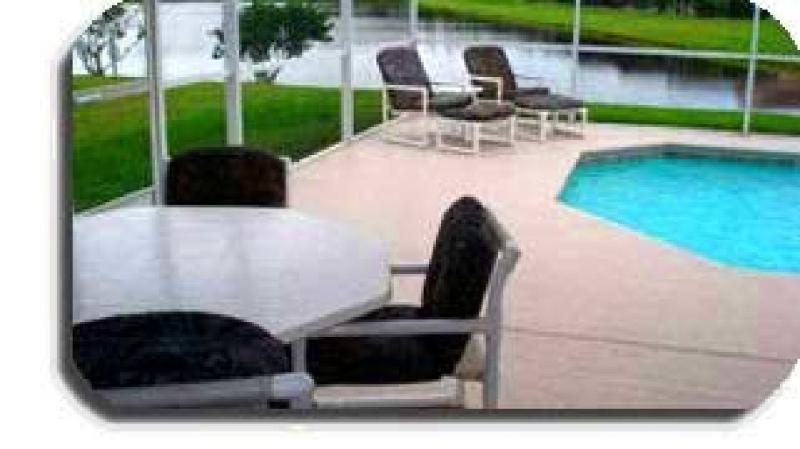 Poolside Dining - Patio with BBQ Grill - Vacation Home with Pool, Pond, Game Room-Disney is 10 minutes away - Kissimmee - rentals