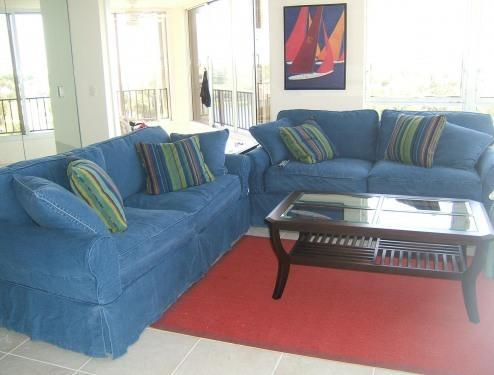 Living room - Beachfront rental - Fort Pierce - rentals