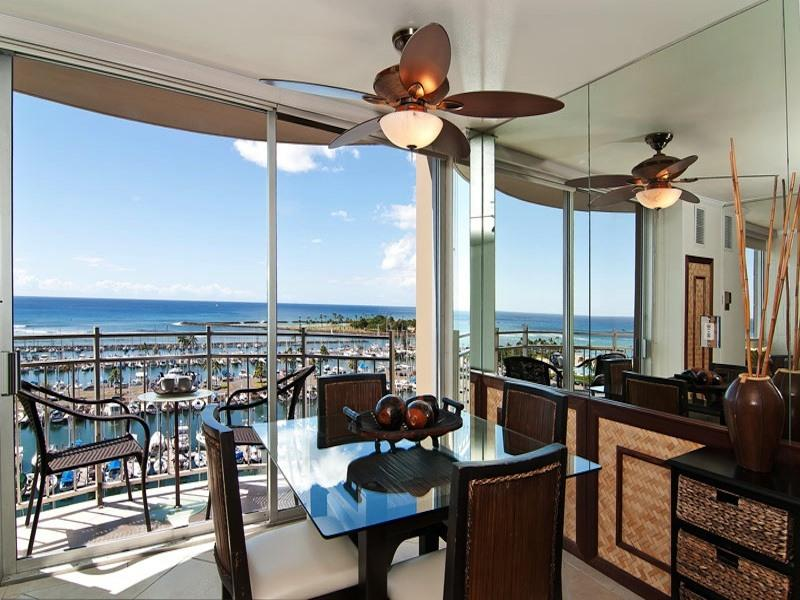Dinning Area - Panoramic Oceanfront View - Best in Building - 199 - Waikiki - rentals