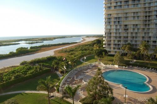 View from Valcony - Beachfront Condo with Breathtaking Views (Wi-Fi) - Marco Island - rentals