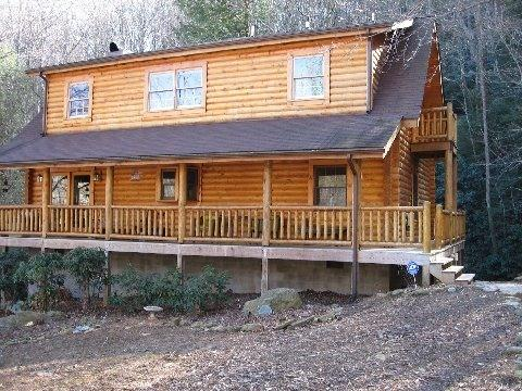 Its a great porch to sit on. It is a wrap around deck. - beautiful Log Cabin on a roaring creek!!! - Burnsville - rentals
