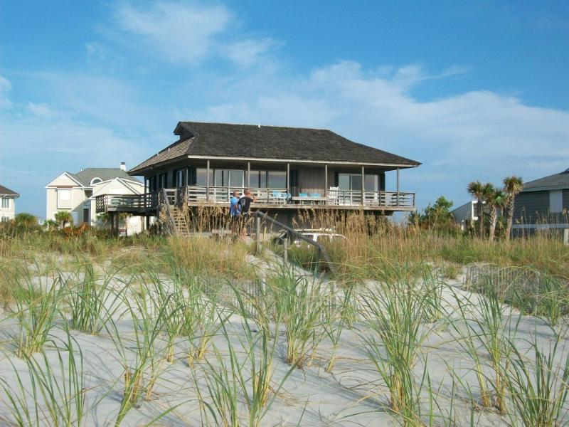 From the beach - Sandy Paws Ocean Front Home on Figure Eight Island - Wilmington - rentals